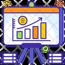 Bitcoin Analytics Bitcoin Chart Infographic Icon