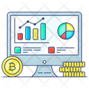 Data Analytics Business Data Bitcoin Chart Icon