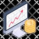 Bitcoin Analytics Bitcoin Statistics Bitcoin Chart Icon