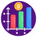 Bitcoin Chart Bitcoin Graph Digital Currency Data Icon