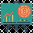 Bitcoin Chart Chart Graph Icon