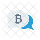 Chat Bitcoin Conversation Icon
