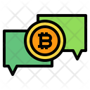 Chatbox Bitcoin Comunication Icon