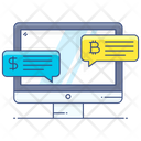 Business Chat Business Messages Bitcoin Chat Icon