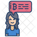 Bitcoin Chat Bitcoin Cryptocurrency Icon