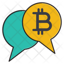 Chat Discussion Bitcoin Icon