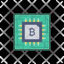 Bitcoin Crypto Chip Icon