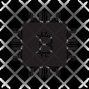 Cpu Chip Bitcoin Icon