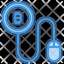 Pay Per Click Money Bitcoin Cryptocurrency Bitcoin Click Pay Bitcoin Icon