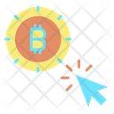 Bitcoin Click Icon