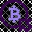 Bitcoin Click Icon