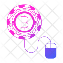 Bitcoin Worker Cryptocurrency Icon