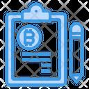 Bitcoin Clipboard Icon
