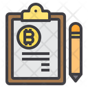 Bitcoin Clipboard Icon