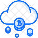 Cloud Mining Bitcoin Icon
