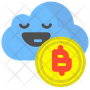Bitcoin cloud Icon