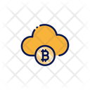 Bitcoin Cloud Cloud Bitcoin Icon
