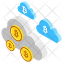 Bitcoin Cloud Bitcoin Network Cloud Mining Icon