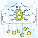 Cloud Technology Bitcoin Network Cloud Computing Icon