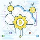 Cloud Technology Bitcoin Network Cloud Computing Icon