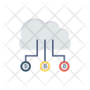 Cloud Computing Bitcoin Icon