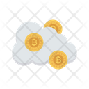 Cloud Bitcoin Currency Icon