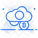 Bitcoin Cloud Cloud Cryptocurrency Cloud Technology Icon