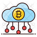 Bitcoin Cloud Cloud Technology Bitcoin Network Icon