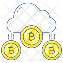 Bitcoin Cloud Bitcoin Network Cloud Computing Icon