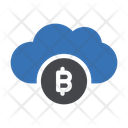 Bitcoin Cloud Currency Icon
