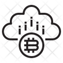 Cloud Mining Blockchain Icon