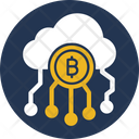 Bitcoin Cloud Bitcoin Cloud Mining Bitcoin Network Icon