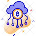 Bitcoin Cloud Bitcoin Cloud Mining Bitcoin Network Icon