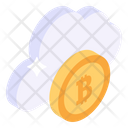 Bitcoin Cloud Cloud Technology Crypto Cloud Icon