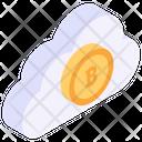 Bitcoin Cloud Cloud Technology Cloud Earnings Icon
