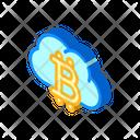 Cloud Mining Isometric Icon