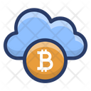 Bitcoin Cloud Technology Icon