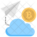 Bitcoin cloud Transaction Icon