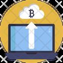 Bitcoin Cloud Upload Icon