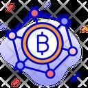 Bitcoin Club Bitcoin Network Blockchain Icon