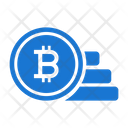 Bitcoin Coins Stacked Icon