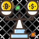 Balance Scale Bitcoin Dollar Icon