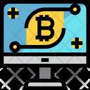 Bitcoin Computer Icon