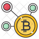 Bitcoin Currency Network Icon