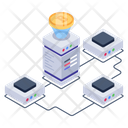 Bitcoin Connection Btc Network Btc Connection Icon