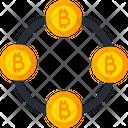 Bitcoin Connection Crypto Block Chain Bitcoin Chain Icon
