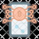 Online Crypto Connection Bitcoin Crypto Icon