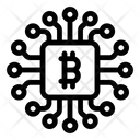 Btc Network Blockchain Network Bitcoin Network Icon
