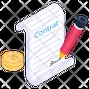 Bitcoin Deal Bitcoin Contract Bitcoin Agreement Icon