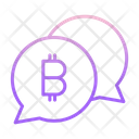 Chat Bitcoin Conversation Bitcoin Chat Icon